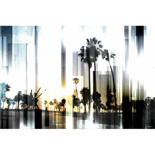 Ocean Front Graphic Art on Canvas