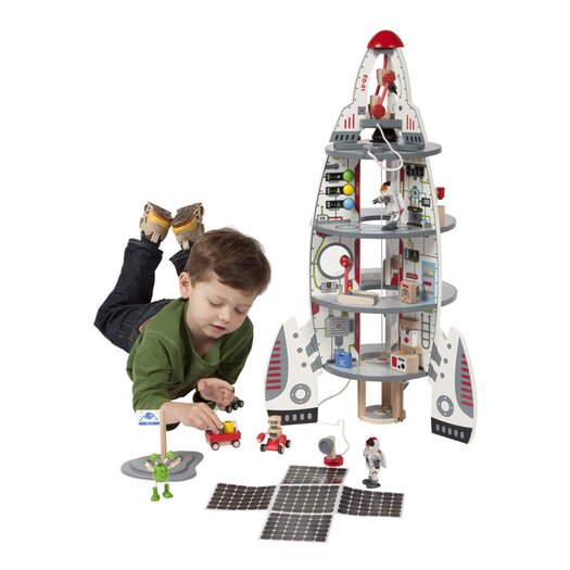 HaPe Discovery 11 Piece Space Ship and Lift Off Rocket Toy Set