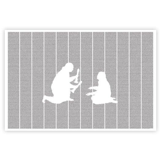 Postertext Les Misérables Graphic Art