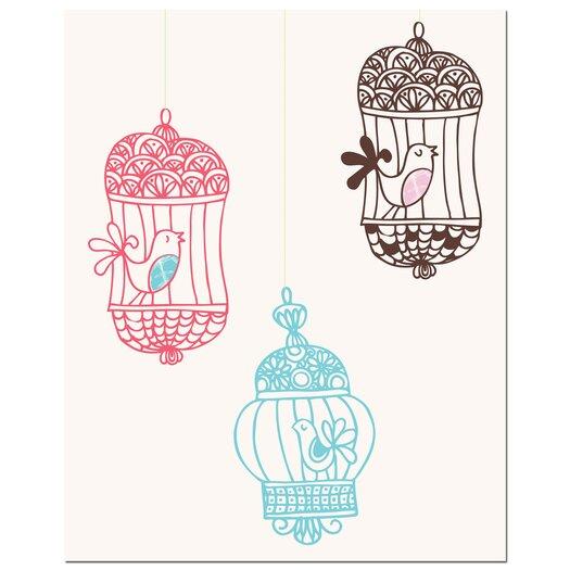 Secretly Designed 3 Bird Cages Art Print