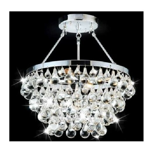 Modern Style Chandelier With Crystal Ornaments