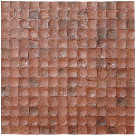 Cocomosaic Coconut Mosaic Tile in Brown Bliss