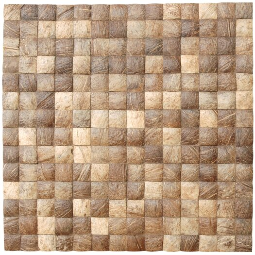 Cocomosaic Coconut Mosaic Tile in Natural Grain