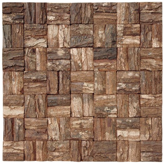 Cocomosaic Wooden MosaicTile in Brown