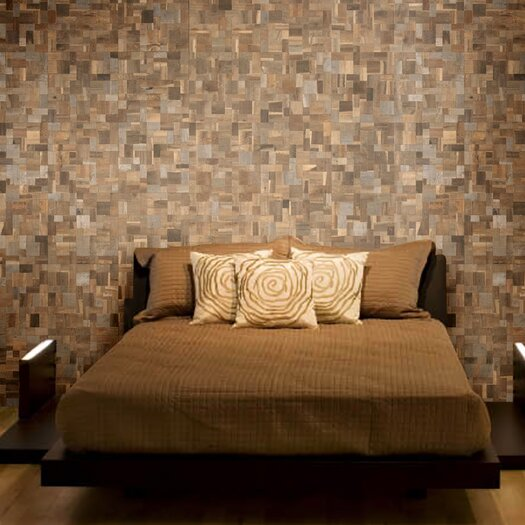 Cocomosaic Wood Mosaic Tile in Multi-Color