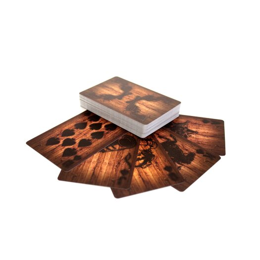 Molla Space, Inc. Wooden Deck of Cards