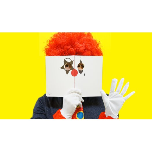 Molla Space, Inc. Clown Peeping Notebook