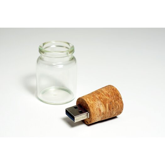 Molla Space, Inc. Message in a Bottle 4 GB USB Flashdrive