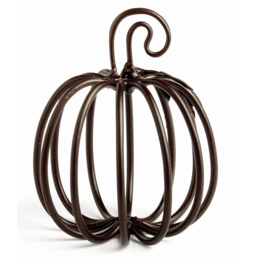 TAG Wire Pumpkin Place Card Holder
