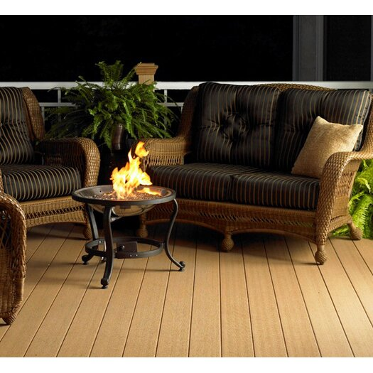 The Outdoor GreatRoom Company Crystal Stainless Steel Natural Gas and Propane Fire Pit