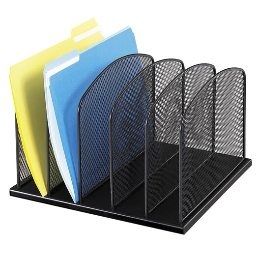 Safco Products Company 5 Section Mesh Upright Desktop Organizer