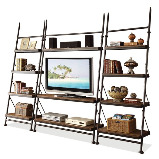 """Riverside Furniture Camden Town 88.5"""" Leaning Bookcase"""
