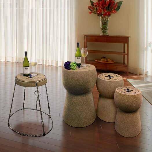 Vinotemp Champagne Coffee Table Set