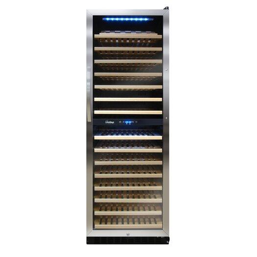 Vinotemp Butler 155 Bottle Dual Zone Built-In Wine Refrigerator