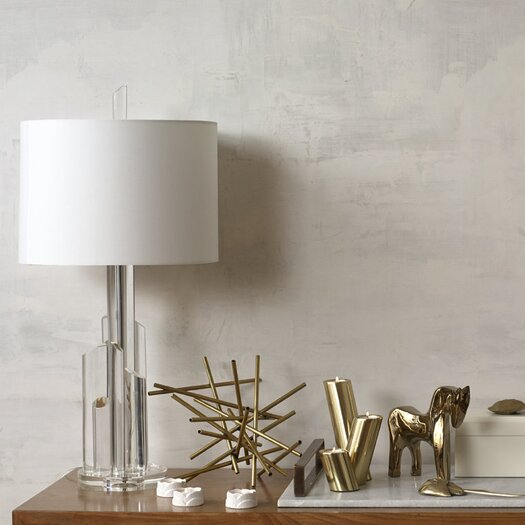 DwellStudio 3 Piece Slanted Brass Candle Holder Set