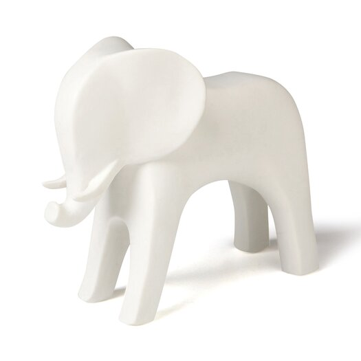 DwellStudio Elephant White Figurine
