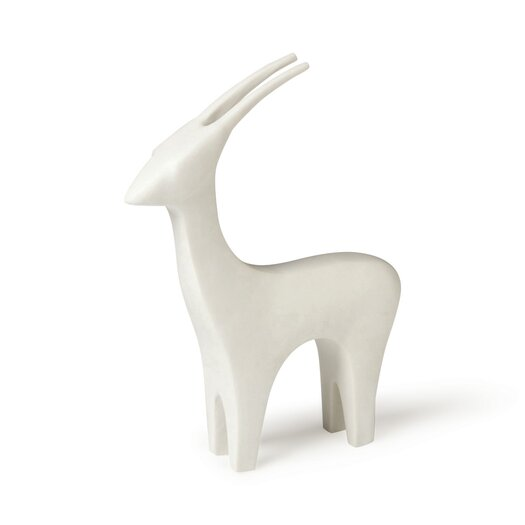 DwellStudio Antelope White Figurine
