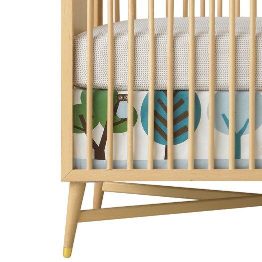 DwellStudio Owls Appliqué Canvas Crib Skirt