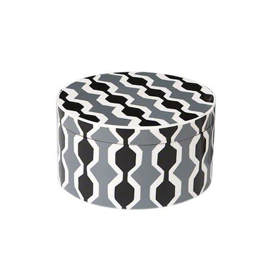 DwellStudio Chelsea Stripe Round Storage Box