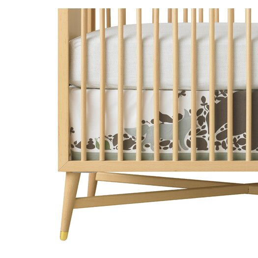 DwellStudio Woodland Tumble Pin Dot Fitted Crib Sheet