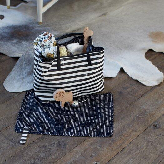 DwellStudio Mini Stripe Ink Madison Diaper Bag