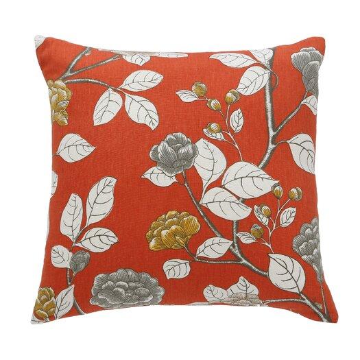 DwellStudio Leda Peony Persimmon Pillow