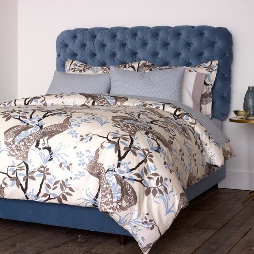 dwellstudio peacock dove duvet cover allmodern