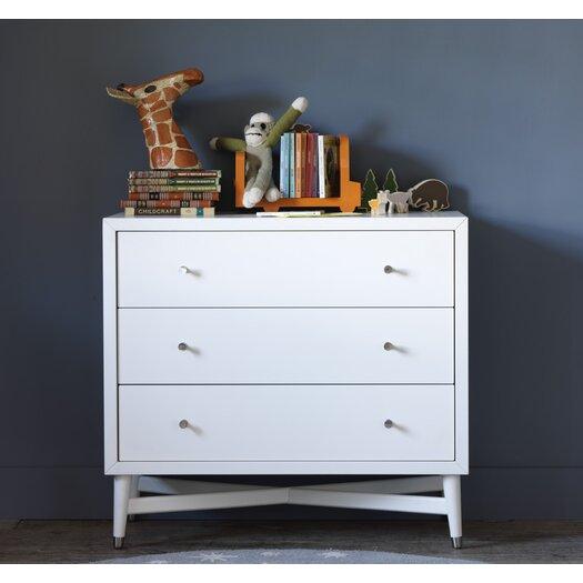 DwellStudio Mid-Century 3 Drawer French White Dresser