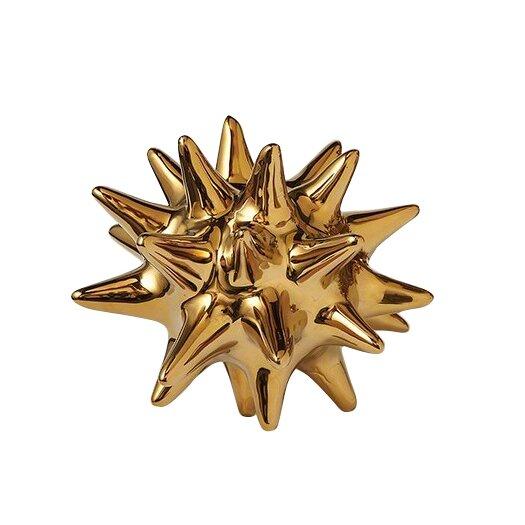 DwellStudio Urchin Shiny Gold Decorative Object