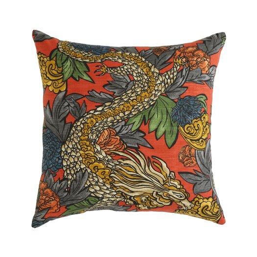 DwellStudio Ming Dragon Persimmon Pillow
