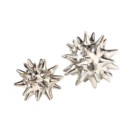 DwellStudio Urchin Shiny Silver Decorative Object