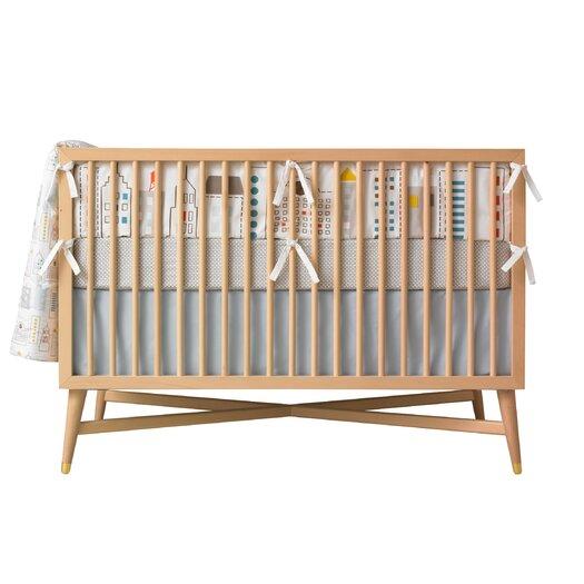 DwellStudio Skyline Squares Fitted Crib Sheet