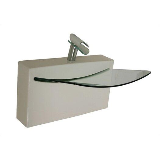 LaToscana Cristal Wall Mount Bathroom Sink