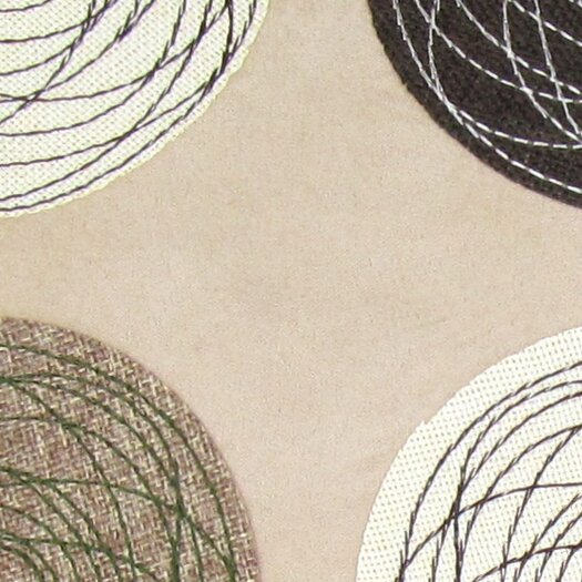 Wayborn Embroidered Patchwork Linen Throw Pillow