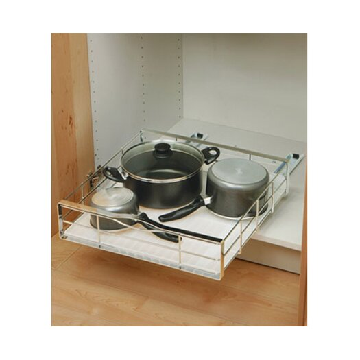 """simplehuman 20"""" Pull Out Cabinet Organizer in Heavy Gauge Steel"""