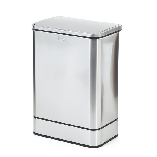 simplehuman 40 L / 10.5 Gal, Rectangular Sensor Can, Touch Free Automatic Trash Can, Stainless Steel