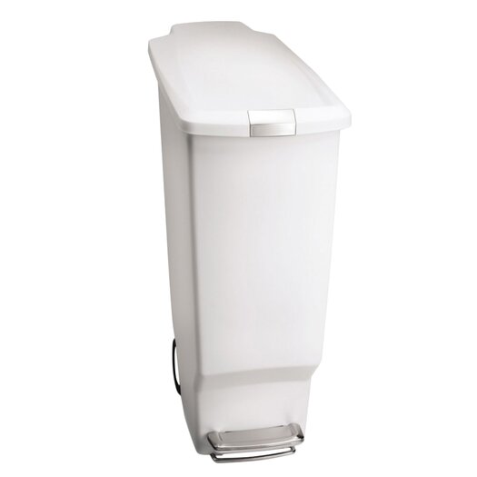 simplehuman 10.5-Gal Slim Plastic Step Trash Can
