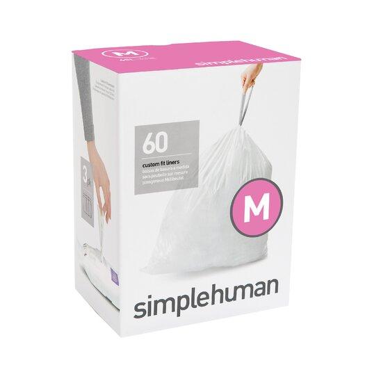 simplehuman Code M Custom Fit Liners (60 Count)
