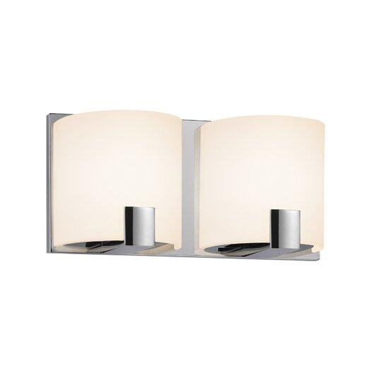 Sonneman C-Shell 2 Light Vanity Light