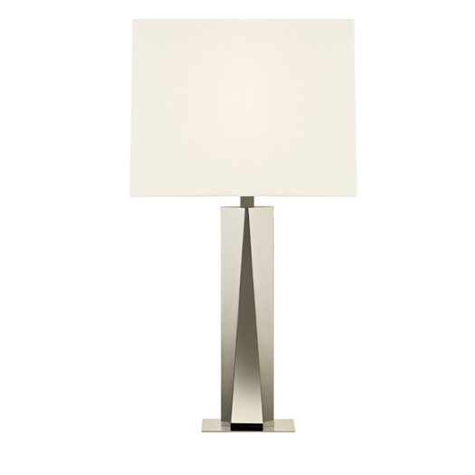 "Sonneman Facet Beam 34.25"" H Table Lamp with Rectangular Shade"