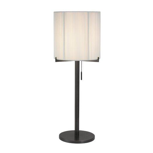 "Sonneman Boxus Round 28"" H Table Lamp with Drum Shade"