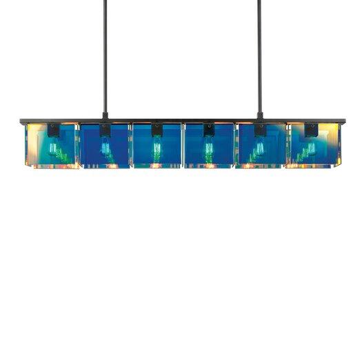 Sonneman Dichroix 6 Light Kitchen Island Pendant