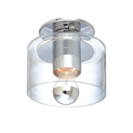 Sonneman Transparence 1 Light Semi-Flush Mount