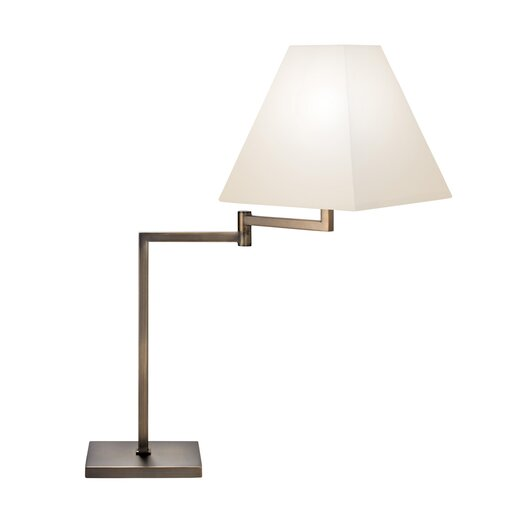 "Sonneman Swing Arm 26.5"" H Table Lamp with Empire Shade"