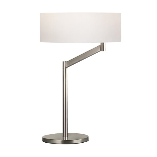"Sonneman Perch Swing Arm 23"" H Table Lamp with Drum Shade"