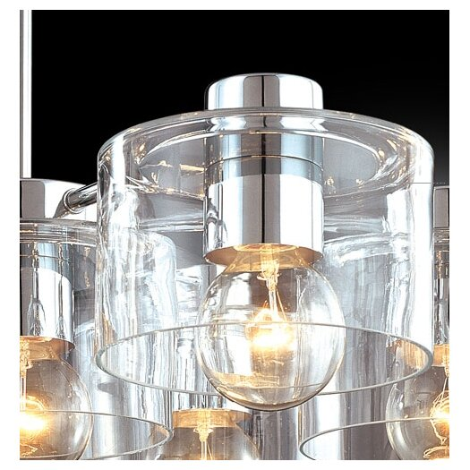 Sonneman Transparence 7 Light Kitchen Island Pendant
