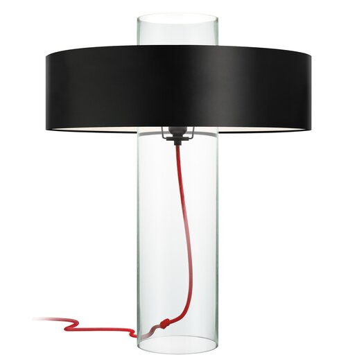 "Sonneman Level 24"" H Table Lamp with Drum Shade"
