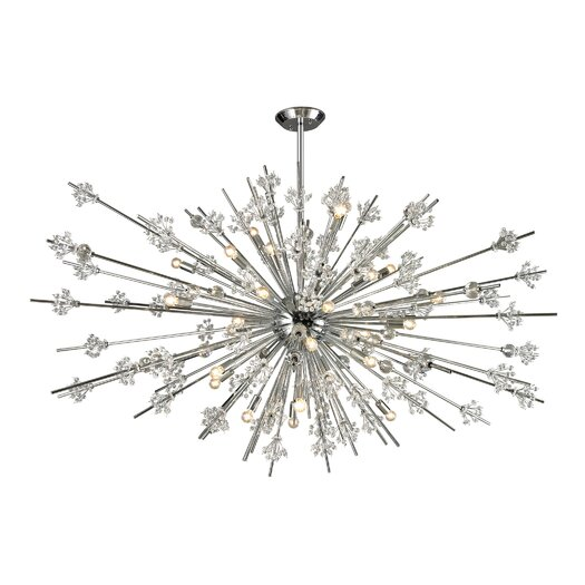 Elk Lighting Starburst 31 Light Chandelier