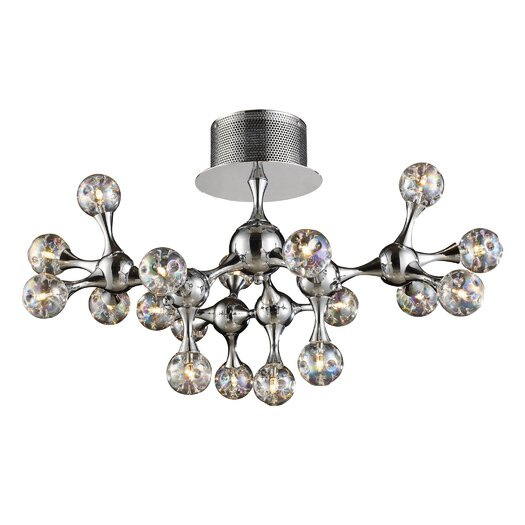 Elk Lighting Molecular Collection 18 Light Semi Flush