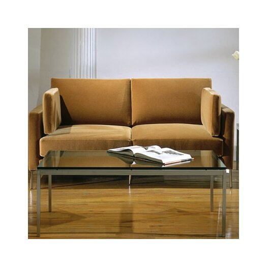 Knoll ® Florence Knoll Rectangular Coffee Table in Satin Chrome